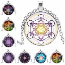 2019 Metatron Cube Pendant Necklace Divine Geometric Life Flower Jewelry Chakra Spirit Magic Hexagon Star