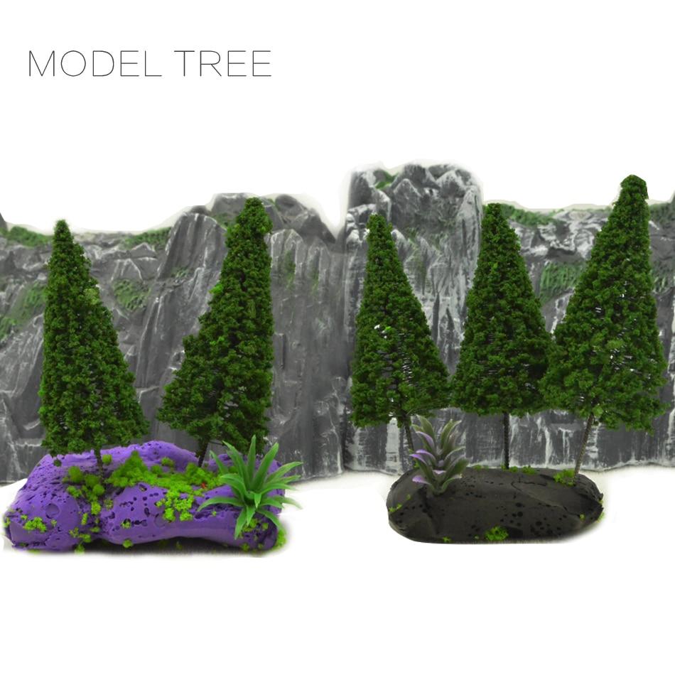 8×1:100 TT Lighted Car Model /& LED für Sand Table Scene Building Train Layout to