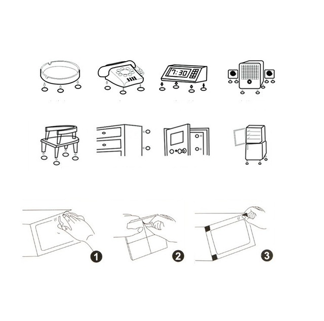 ECM#BAO Cabinet Furniture Table Thickened Wall Mute Anti-flip Door Handle Lock Protective Shock Crash Rubber Pads For Chair Legs 5