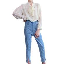 Новая одежда для девочек Одежда подростков блузка с бантом Топ