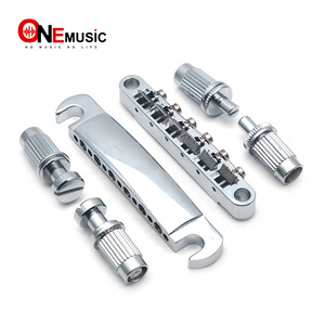 A Set 12 String Saddle Tune-O-Matic Bridge & Tailpiece for LP Electric Guitar with Stud & Anchor Chrome