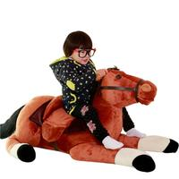 Fancytrader 51'' Giant Plush Stuffed Horse Lifelike Toy Big Soft Simulation Horse Doll 130cm Nice Gifts Photograph Prop 3 Colors