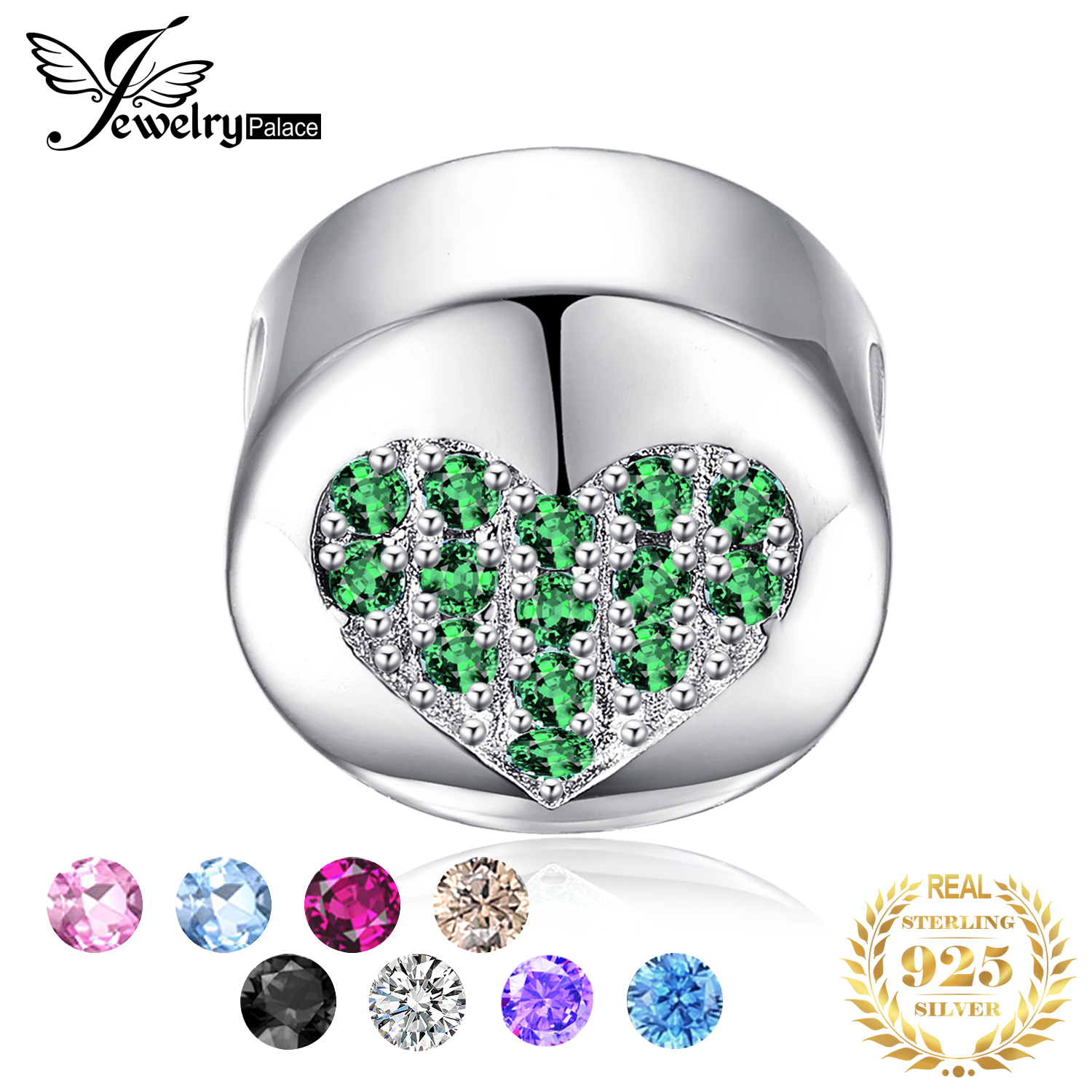 JewelryPalace Birthstone 925 Sterling Silver Beads Charms Original For Bracelet original Jewelry Making