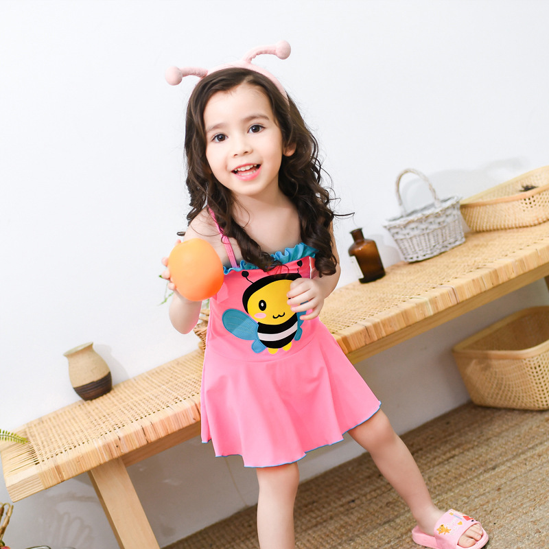 Cute Little Princess Women's Skirt Baby-One-piece Swimming Suit Cartoon Infants GIRL'S CHILDREN'S Swimsuit 1-2-3-Year-Old