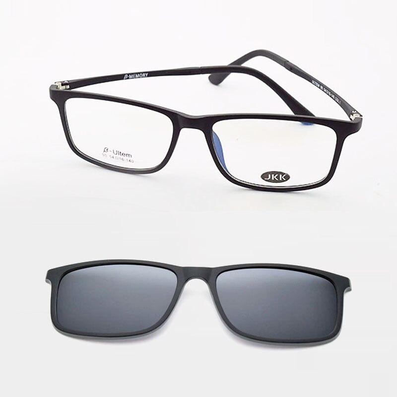 ულტრა მსუბუქი სათვალეები მსუბუქი ჩარჩო მამაკაცისათვის მაგნიტი პოლარიზებული კლიპის სათვალეებით ულტრა სათვალეები სათვალეები Uv 400