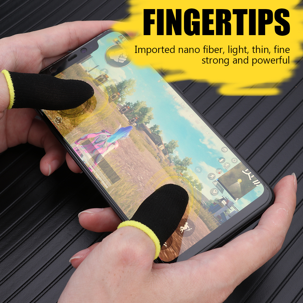 2pcs Finger Cover Game Controller For PUBG Sweat Proof Non-Scratch Sensitive Touch Screen Gaming Finger Thumb Sleeve Gloves