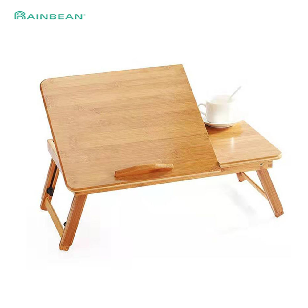 Adjustable Bamboo Laptop Desk And Bed Tray Table Rack Shelf Dormitory Tilting Surface For Computer Notebook Book Studying Table