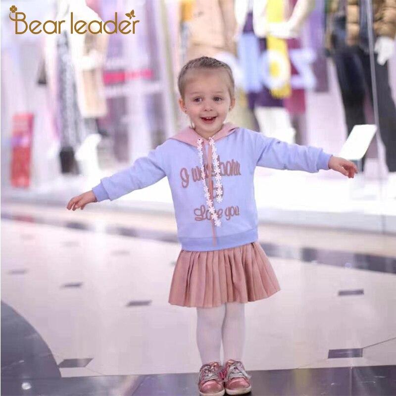 H0f08928c48a64caeab060eb4da2639534 Bear Leader Girls Dress 2019 New Autumn Casual Ruffles A-Line Striped Full Sleeve Kids Dress For 3T-7T