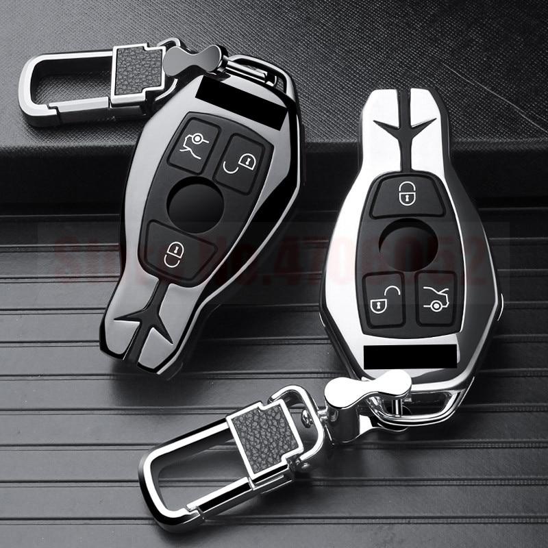 Otomobiller ve Motosikletler'ten Araba için Anahtar Kılıfı'de Araba anahtarı durumda kapak fob Mercedes Benz W203 W210 W211 W124 W202 W204 W212 W176 AMG GLC 260 C200 CLA GLA 200 araba aksesuarları title=