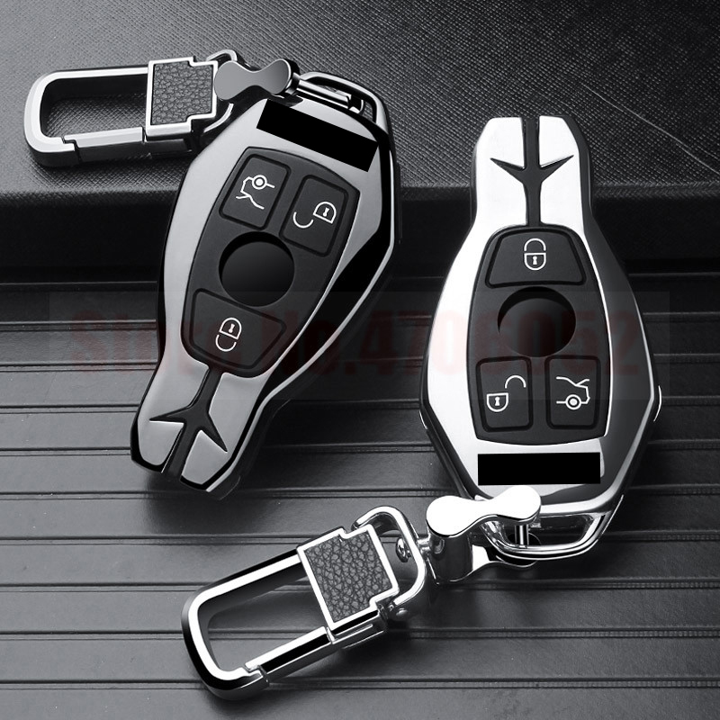 Car Key Case Cover fob For Mercedes Benz W203 W210 W211 W124 W202 W204 W212 W176 For GLC 260 C200 CLA GLA 200 car Accessories
