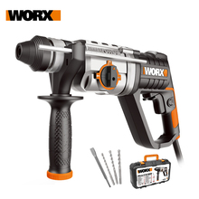 Worx Rotary Hammer Drill 800W WX339 Electric Tools 26mm 3in1 Hammer Drill Variable speed Drill Driver Household Power Tools+ Box