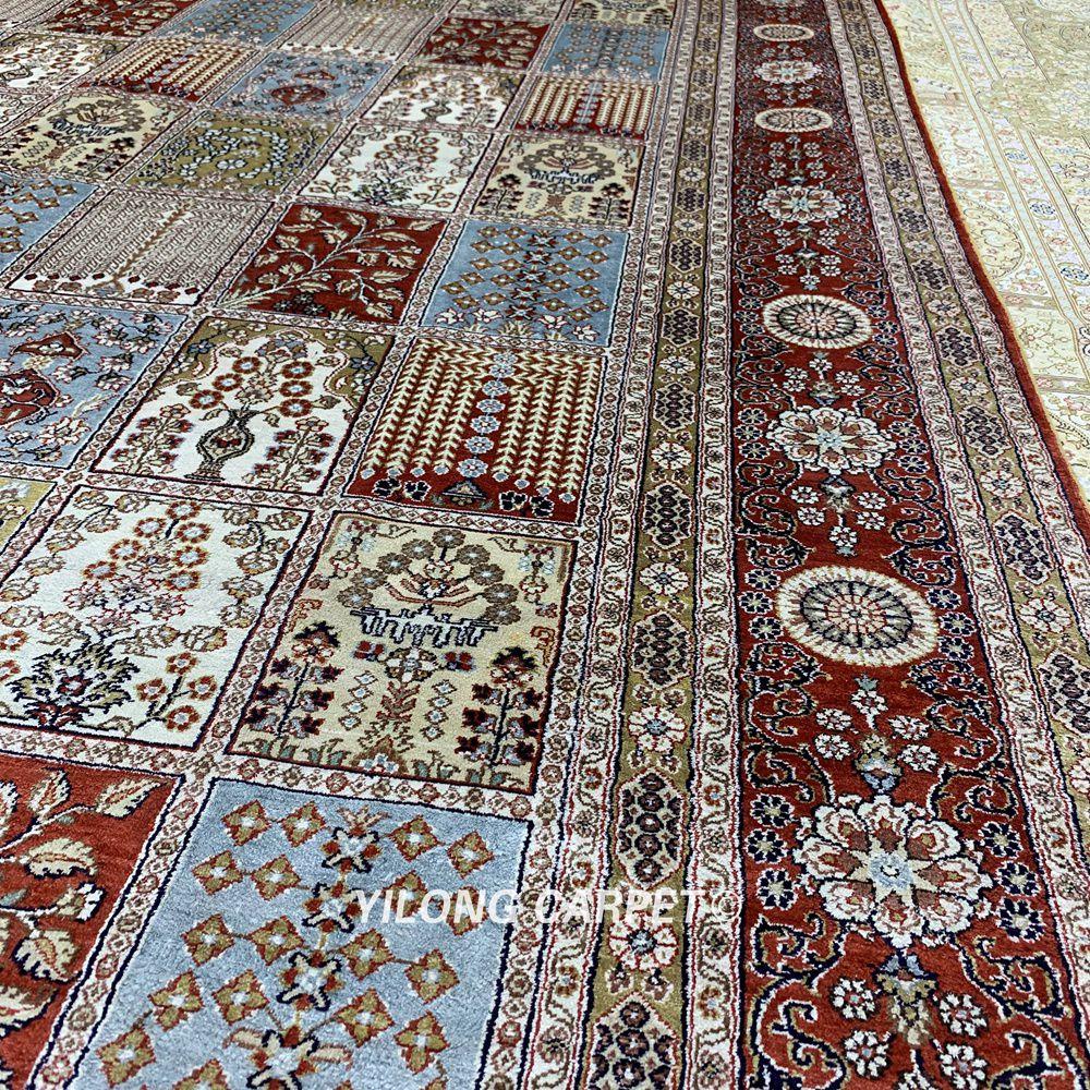 Yilong 6'x9 'градински дизайн кашмир килим - Домашен текстил - Снимка 5