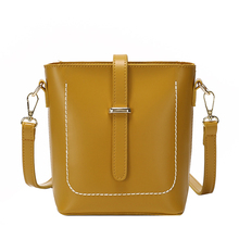 Fashion Shoulder Bag Waterproof Pu Leather Solid Color Design Retro Small Square Casual Ladies Simple Messenger Trumpet