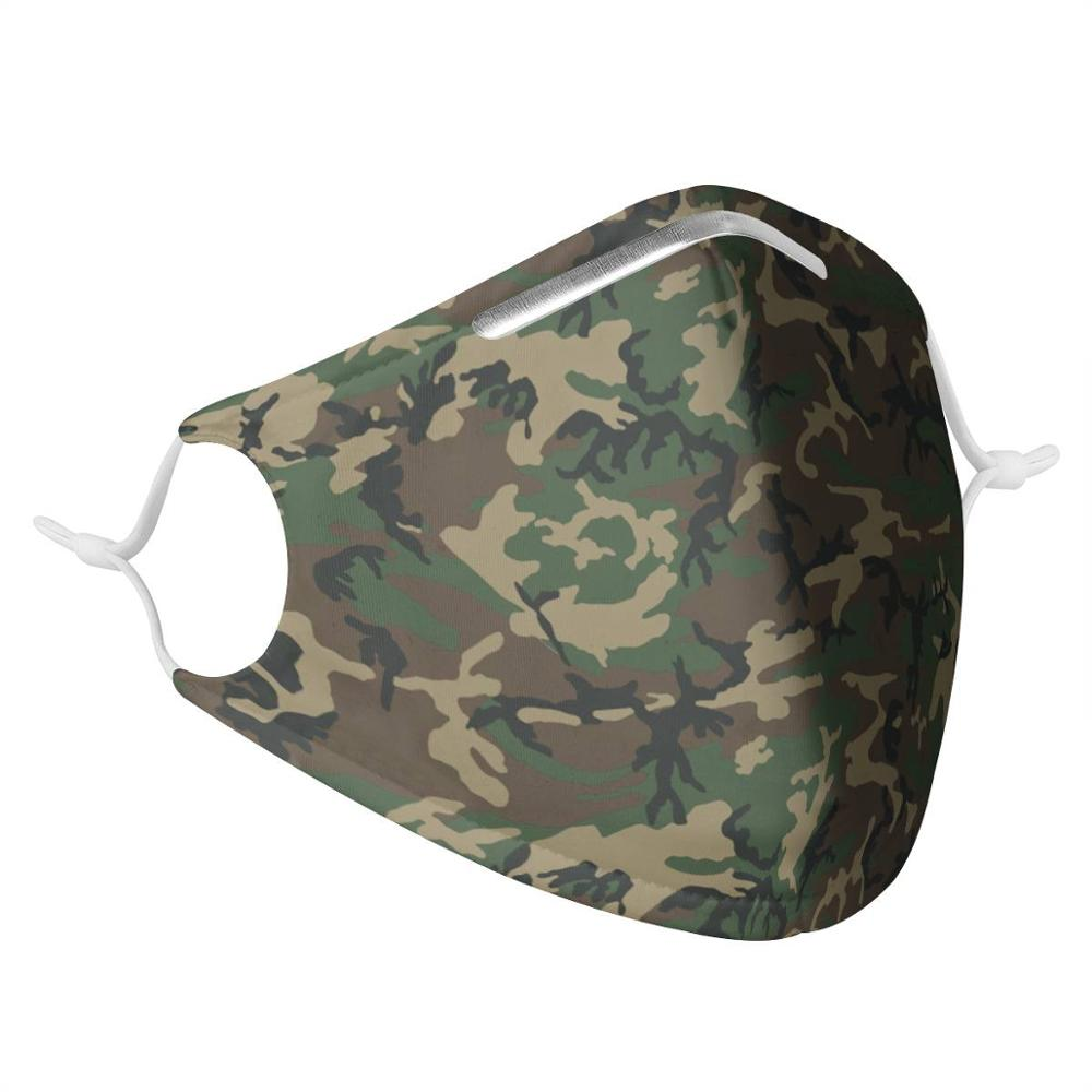 Camouflage Pattern Male And Female Respirator With 2Pcs Filter, Stylish Reusable Respirator, Non-disposable Virus Respirator