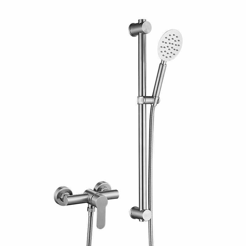 Duvara monte tek kolu 304 paslanmaz çelik banyo duş bataryası seti su dokunun torneira chuveiro ducha