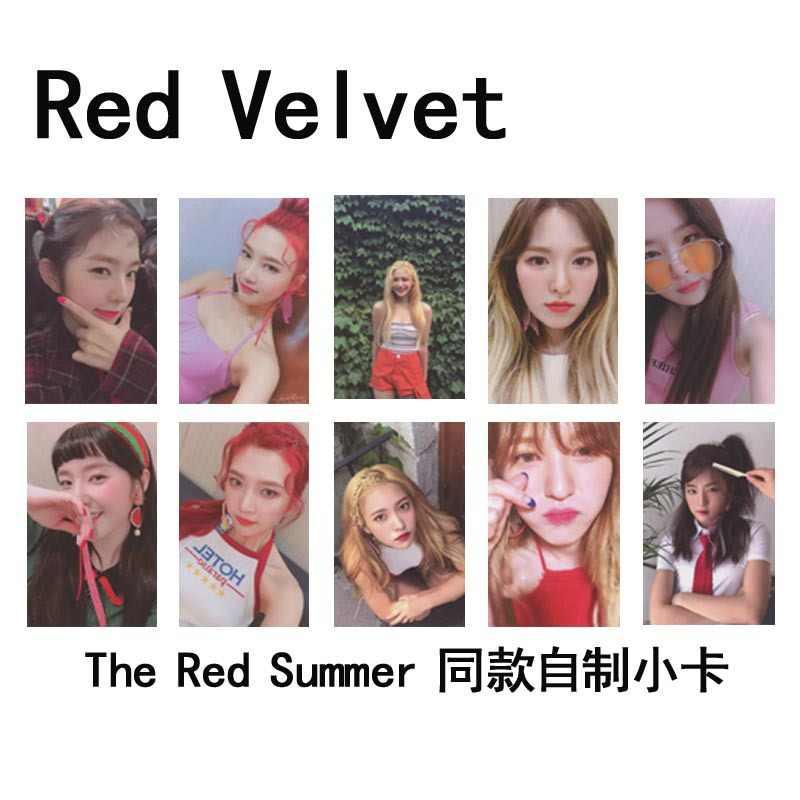 Kpop Kırmızı Kadife fotocard kırmızı yaz Albümü Kpop Kırmızı Kadife fotoğraf kartı yüksek kaliteli HD resim yeni gelenler