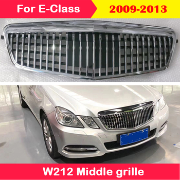 Car styling Middle grille For Mercedes-Benz E-Class W212 2009-2013 Modified for Maybach style комплект ковриков в салон автомобиля novline autofamily mercedes benz e class w212 2009 седан цвет бежевый