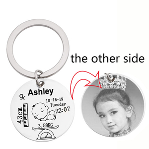 Personalized Baby Keychain Engraving Name Gender Symbol Date Of Birth Height Of Weight For Newborns Baby Customized Key Chain