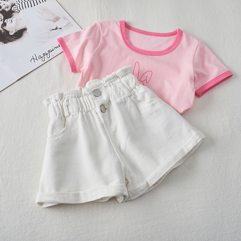 2020 Girl Summer  Kids Children Fashion Hot Jeans Denim Shorts Three Colors 9