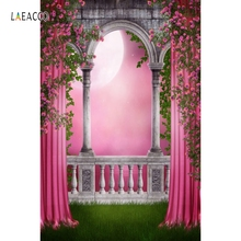 цены Laeacco Girl Princess Curtain Palace Moon Scene Wedding Photography Backgrounds Custom Photography Backdrops For Photo Studio