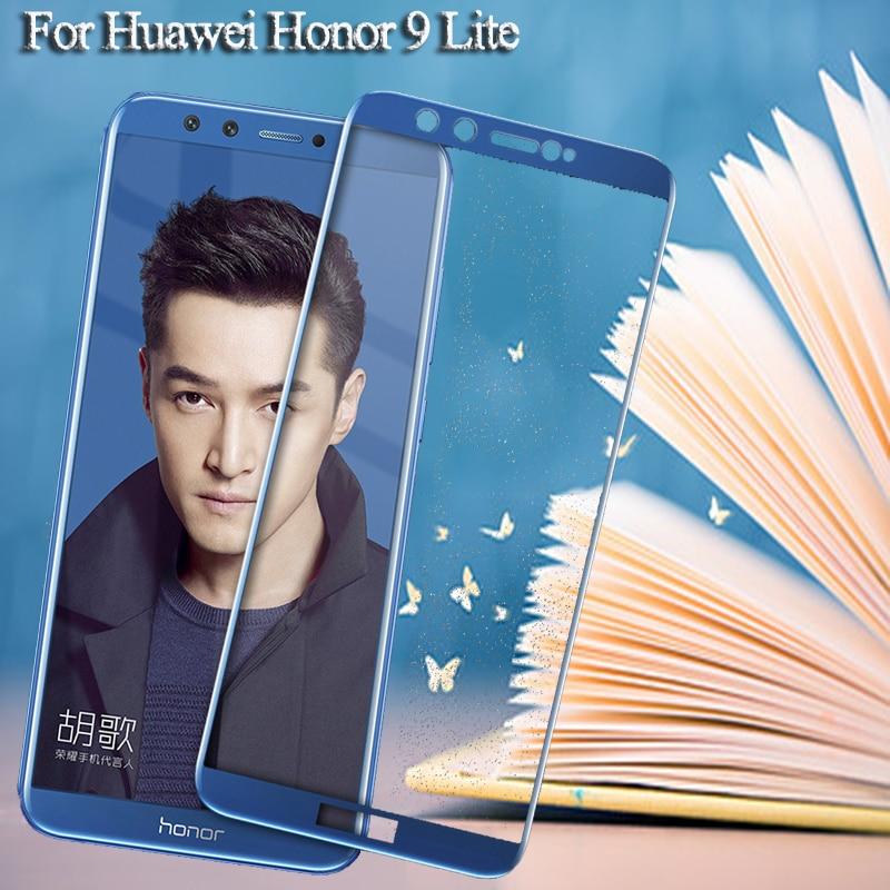 Screen Protector For Huawei Honor 9 Lite V9  V10 Tempered Protective Glass On Honor 9 Light  V 9 10 9Lite Full Cover Glass Film