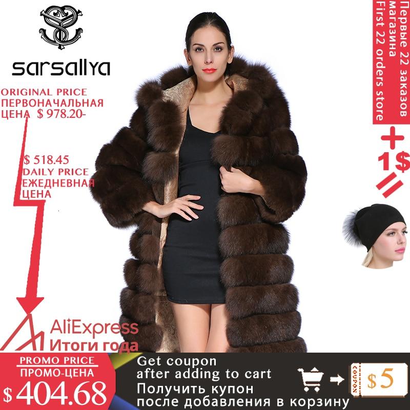 Fur Coat Hooded Female Real Fox Fur Coat Long Winter Warm Jacket Women Luxury Brand Clothes Detachable Sleeves Vest Plus Size