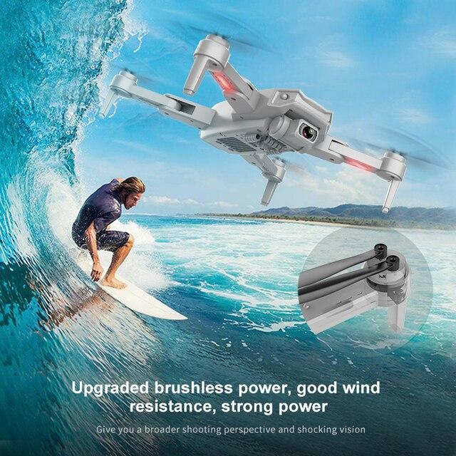 Profissional 6k hd câmera dupla fotografia aérea sem escova dobrável quadcopter rc distância 3km caldett s608 pro gps zangão 4k 3