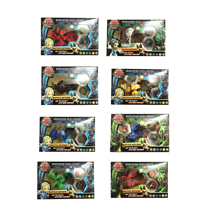 8pcs/lot TOMY BAKUGAN Battle Brawlers Bayblade Burst Toupie Metal Fusion Met Monster Ball Gyro Atletiek Speelgoed Christmas Gift