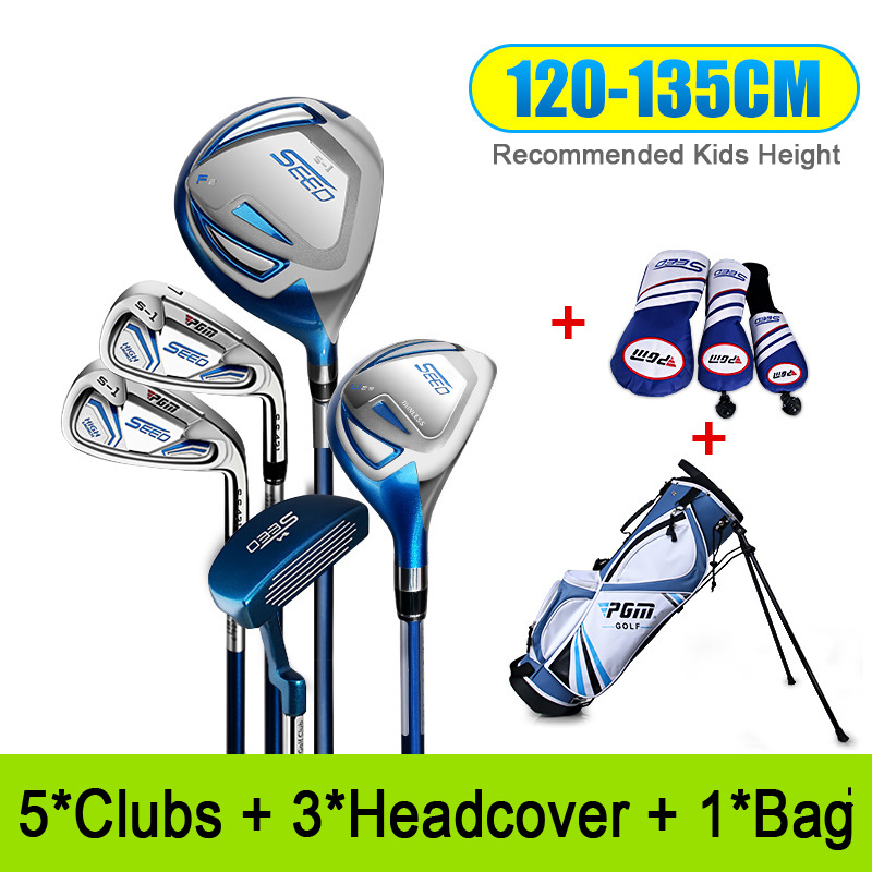 Golf Club Sets for 120-165cm Height Boy Kids Junior Golf Club Child Learning Iron Carbon Rod  Putter Headcover Bracket Bag 5