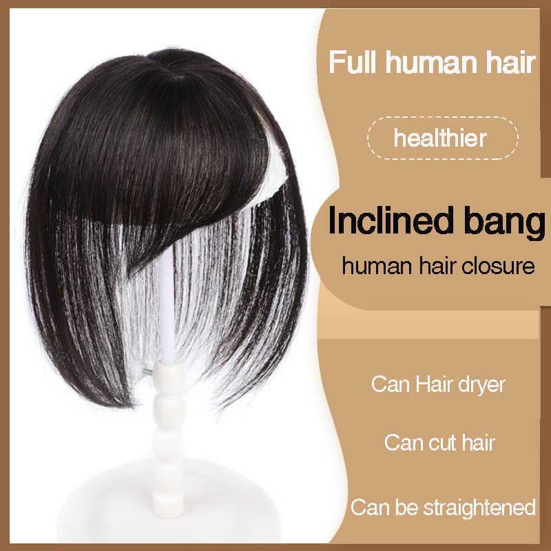 QIANJI WomenMan Toupee с челкой прямые искусственные натуральные волосы материал волос ручной работы верхняя часть волос Comingbuy