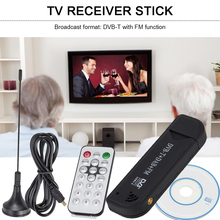Palo de TV Digital Dongle DVB T DAB receptor de antena FM, Mini USB 2,0, Radio inalámbrica para el hogar, TV, adorno fácil de disfrutar