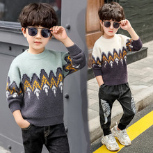 Autumn Winter Boys Thicken Sweaters Kids Cotton Pullovers Boys Fleece Knitwear Christmas Sweater Children Clothes Outerwear Tops недорого
