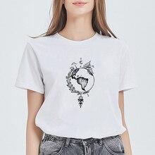 New T Shirt Women Beautiful Streetwear Kawaii earth Tattoo d