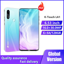 K-Touch LA1 Smartphones 6GB+128GB Rear Camera 30MP Front Camera 16MP Telephone Android 4G LTE 5000mAh 6.53Inch Cell Phones