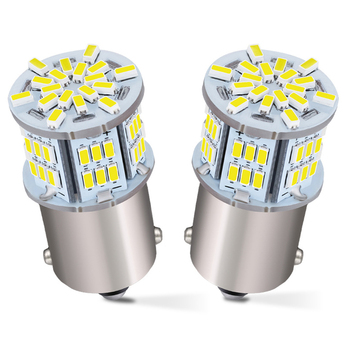 2x 1156 BA15S P21W CANBUS Car LED Reverse Light Bulb For BMW E53 E70 F10 F30 F20 E87 M3 M5 E60 E90 E91 E92 E36 E30 E39 E46 white image