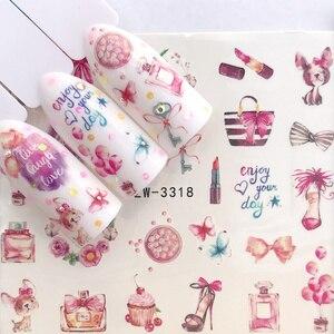 1 лист, водные наклейки для ногтей, черные Мультяшные животные, фламинго, лиса, полый дизайн, Слайдеры для ногтей, Переводные картинки, сделай сам, маникюр, Декорация