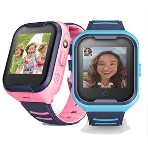 IP67 водонепроницаемый смарт 4G удаленный монитор камера gps wifi ребенок студент наручные часы SOS видео вызов трекер местоположение телефон часы