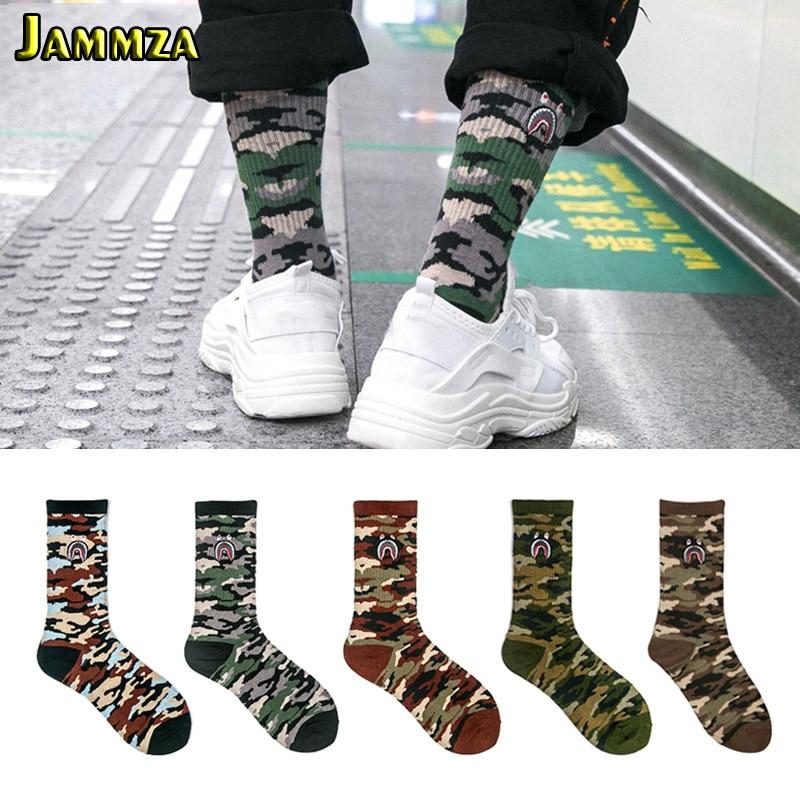 Men Brand Street Fashion Socks Camouflage Women Hiphop Korea Skateboard Sokken Cotton Elasticity Sporty Wear Outside Long Socks
