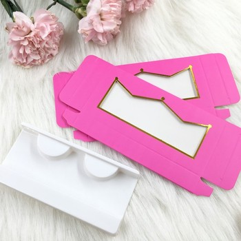 цена на 20pcs/lot 50pcs/lot Empty Eyelashes Packaging Soft Paper Lash Box Custom Private Label