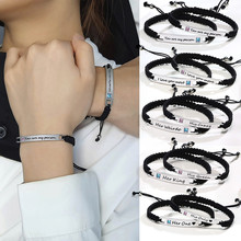 YOU'RE MY PERSON BRACELET BRAIDED ENGRAVED GREY'S ANATOMY QUOTE CUSTOM FRIENDSHIP BFF GIFT(China)