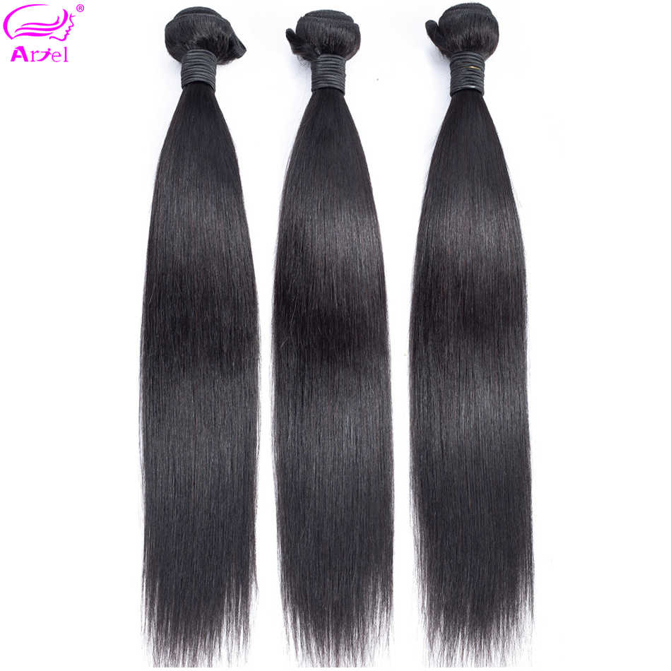 30 Inch Bundles Straight Hair Bundles 100% Human Hair Indian Hair Weave Bundles 32 Inch Natural Color Non Remy Hair Extension