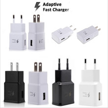 100pcs/lot Original 9V-1.67A 5V 2A US/EU/AU/UK Plug Fast Charging Travel adapter Wall Fast Charger For S6 S7 S8 S9 plus Note 8 9