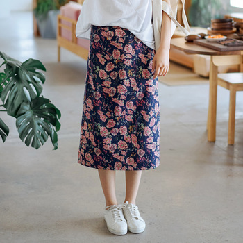 Floral Skirt Spring and Summer New Korean Style Hipster Sweet Women's One-Step Skirt Chinese-Style Bodycon Skirt bodycon skirt фото