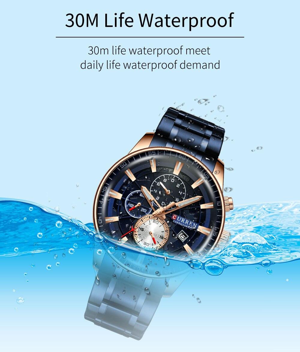 H0f0a8804570742f4aabcf790694f860cV Men's Watches CURREN Top Luxury Brand Fashion Quartz Men Watch Waterproof Chronograph Business Wristwatch Relogio Masculino