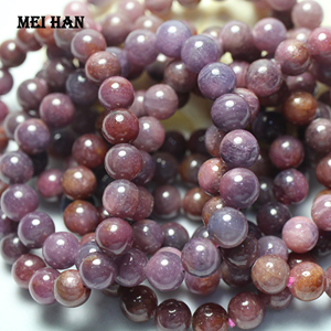 Image 2 - Meihan بورما الطبيعية الأحمر rubyy 9 مللي متر + 0.2 (1 سوار/مجموعة) السلس الجولة فضفاض الخرز حجر لصنع المجوهرات