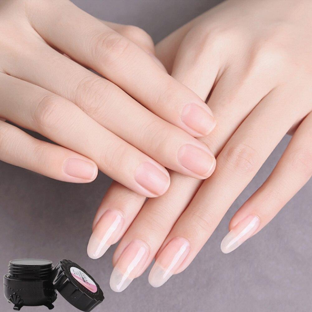Fiberglass Nail Extension Fiber Tips DIY Manicure Salon Tool Set with Glue Brush NN