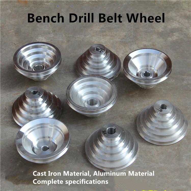 """Cast Aluminum 4 Step Pulley 16mm Bore for 1//2/"""" = 12.7mm  Belt width OD 130mm"""