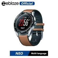 Zeblaze NEO serisi renk dokunmatik ekran Smartwatch kalp hızı kan basıncı kadın sağlığı geri sayım çağrı reddetme WR IP67