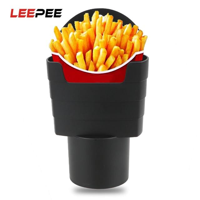 LEEPEE voyage manger dans la voiture frites casse-croûte boîte voiture frites porte-boîte de rangement seau nourriture boisson support de verre