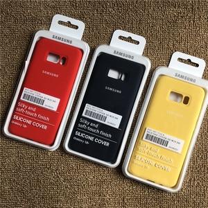 Image 5 - Samsung galaxy s8 s8plus capa de silicone, fundo fechado, toque macio, proteção completa para galaxy s8/8 + com caixa